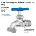"""Llave para Manguera, de Laton Cromado 1/2"""" 130 g FOSET"""