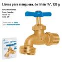 """Llave para Manguera, de Laton 1/2"""" 120 g FOSET"""