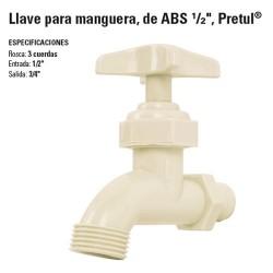 """Llave para Manguera, de ABS 1/2"""" PRETUL"""