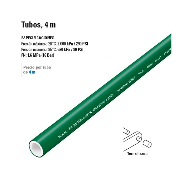 Tubos de PP-R 4 m TERMOFLOW