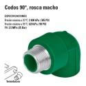 Codos 90º Rosca Macho de PP-R TERMOFLOW