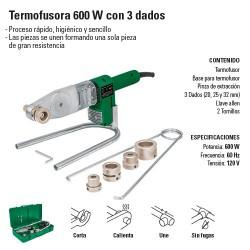 Termofusora 600 W con 3 Dados TERMOFLOW