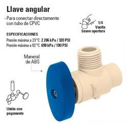 Llave de CPVC Angular HIDROFLOW
