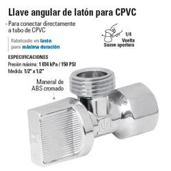 Llave Angular de Laton para CPVC FOSET