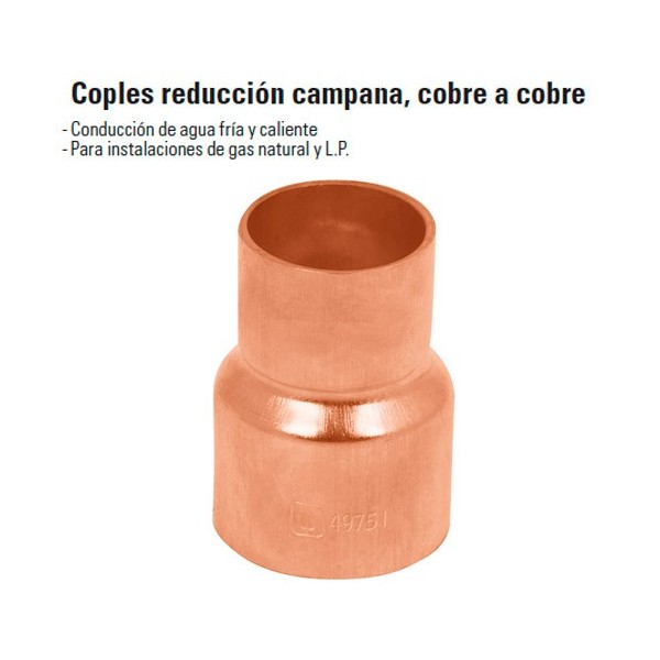 Cople Reduccion Campana Cobre a Cobre FOSET