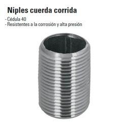 Niples Cuerda Corrida de Acero Galvanizado FOSET