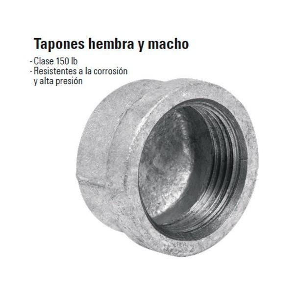 Tapon Hembra y Macho de Acero Galvanizado FOSET