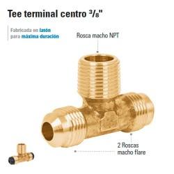 "Tee Terminal Centro 3/8"""