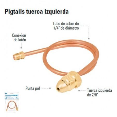 Pigtail Tuerca Izquierda