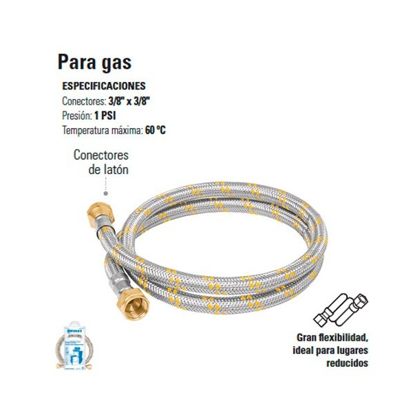 Manguera Flexible Para Gas