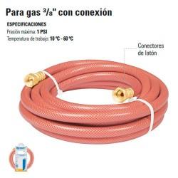 """Manguera Para Gas 3/8"""" con Conexion"""