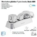 """Mezcladora Plastica 4"""" Para Lavabo FOSET"""