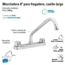 "Mezcladora 8"" para Fregadero Cuello Largo FOSET"