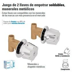 Juego de Llaves de Empotrar Soldables / Manerales Metalicos FOSET