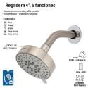 """Regadera 4"""", 5 Funciones"""