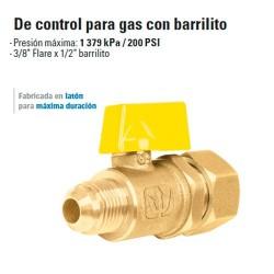 Valvula de Control para Gas con Barrilito