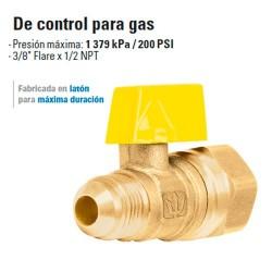 Valvula de Control Para Gas