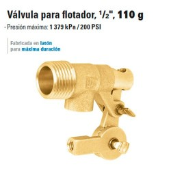 "Valvula para Flotador, 1/2"", 110 g"
