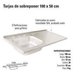Tarja de Sobreponer 100 x 50 cm