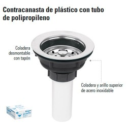 Contracanasta de Plastico con Tubo de Polipropileno