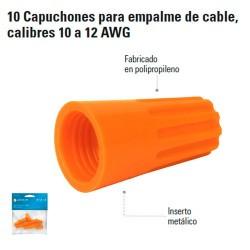 10 Capuchones para Empalme de Cable, Calibres 12 a 14 AWG