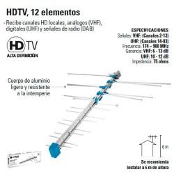 Antena HDTV 12 Elementos