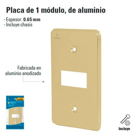 Placa de 1 Modulo de Aluminio