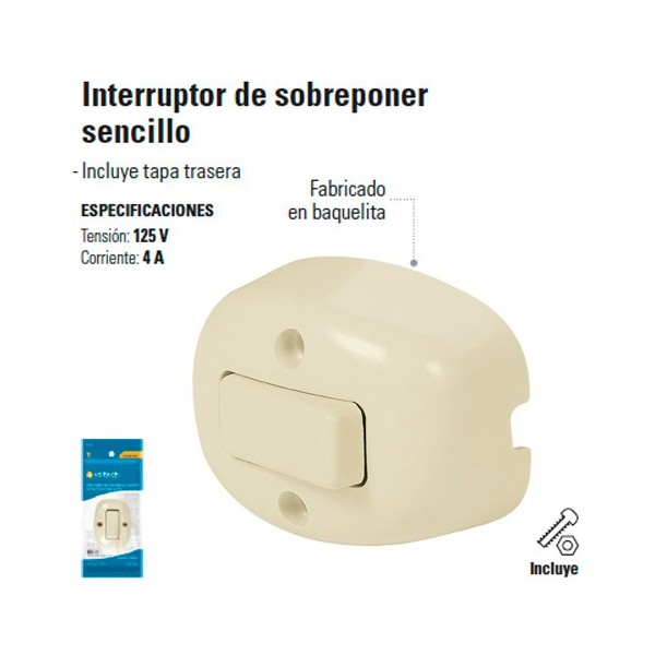 Interruptor de Sobreponer Sencillo