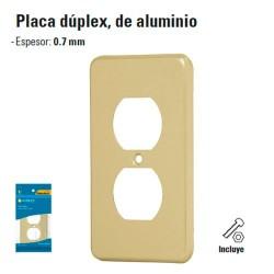 Placa Duplex de Aluminio