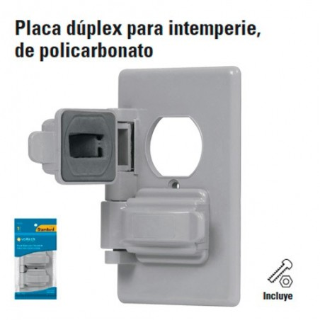 Placa Duplex para Intemperie de Policarbonato
