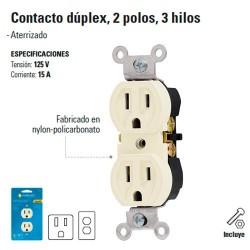 Contacto Duplex 2 Polos 3 Hilos