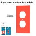Placa Duplex para Contacto Tierra Aislada