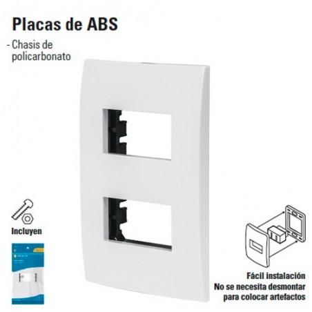 Placa de 2 Modulos de ABS