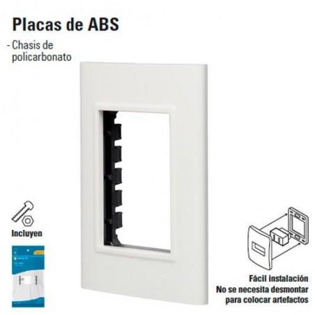 Placa de 3 Modulos de ABS