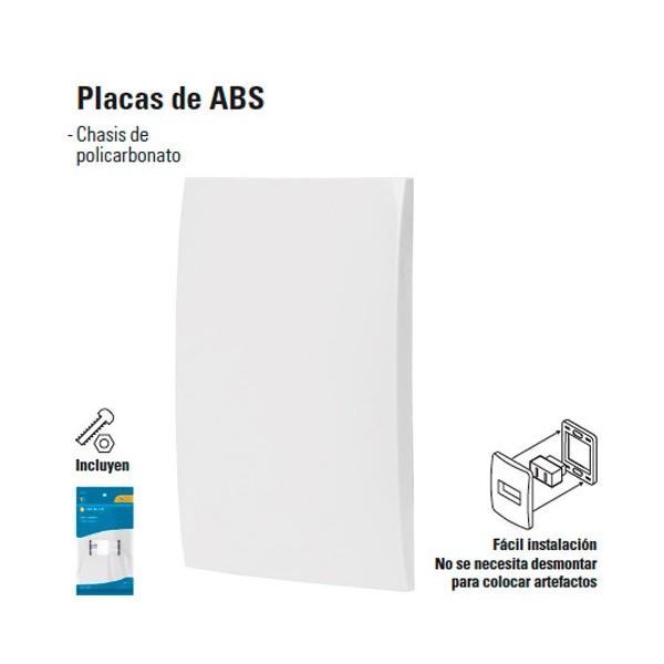 Placa Ciega de ABS