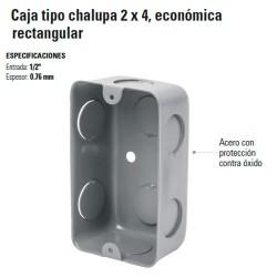Caja Tipo Chalupa 2 x 4 Economica Rectangular
