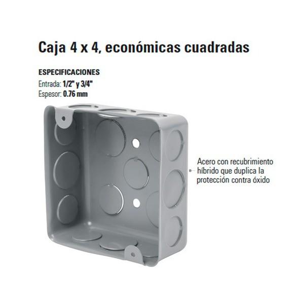 Caja 4 x 4 Economica Cuadrada