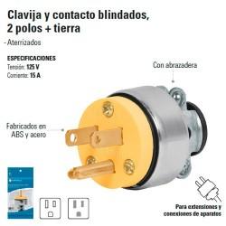 Clavija y Contacto Blindados 2 Polos + Tierra