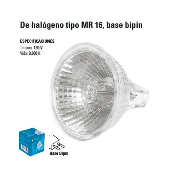Focos de Halogeno tipo MR 16 Base Bipin