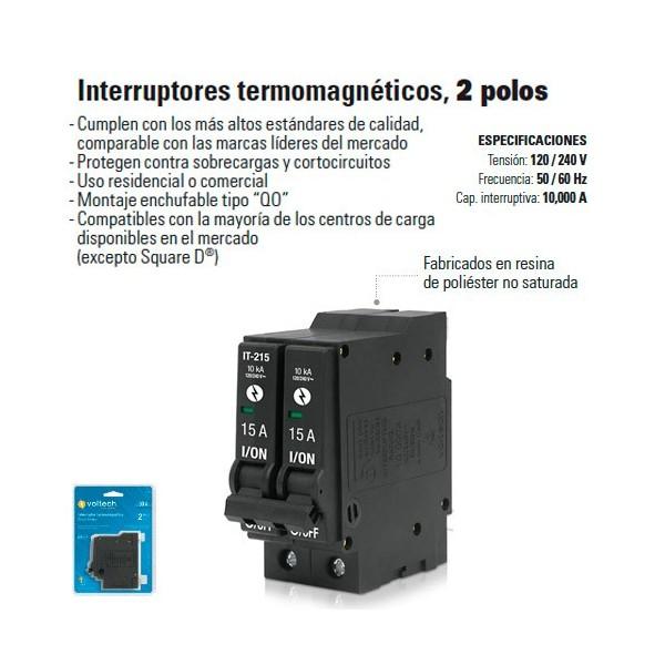 Interruptor Termomagnetico 2 Polos