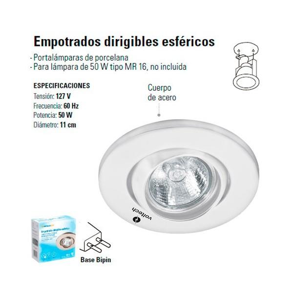 Luminario Empotrable Dirigible Esferico