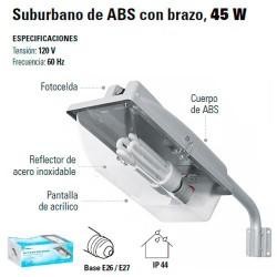Luminario Suburbano con Brazo 45 W con Fotocelda