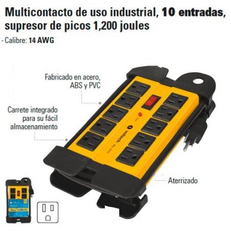 Multicontacto de Uso Industrial 10 Entradas