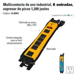 Multicontacto de Uso Industrial 6 Entradas