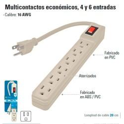 Multicontacto Economico 4 y 6 Entradas