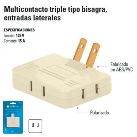 Multicontacto Triple Tipo Bisagra Entradas Laterales