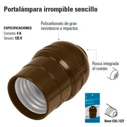 Portalampara Irrompible Sencillo