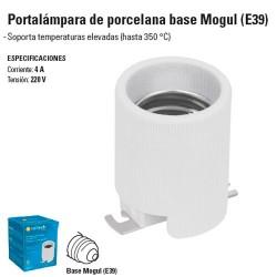 Portalampara de Porcelana Base Tipo Mogul (E39)