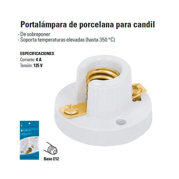 Portalampara de Porcelana para Candil