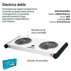 Parrilla Electrica Doble